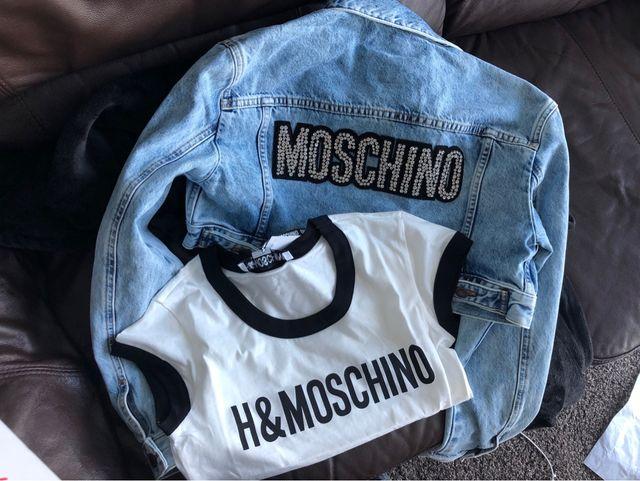 #hmxmoschino denim moschino jacket