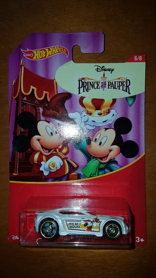 coche Hot Wheels Disney Mickey Mouse Prince Pauper