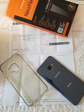 Samsung s9 duo sim a estrenar. azul con factura
