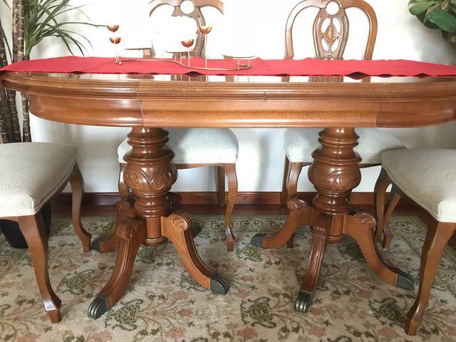 Mesa comedor y 6 sillas OFERTAS COHERENTES de segunda mano en O ...