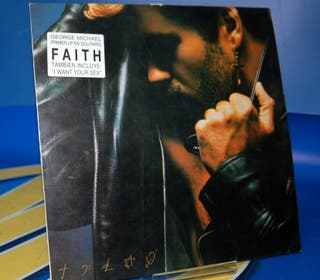 Vinilo LP disco- George Michael Faith -1987