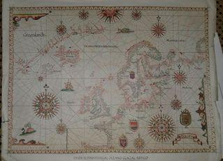 Láminas de mapas antiguos