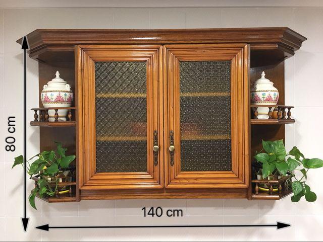 Mueble de cocina de roble (madera maciza) de segunda mano ...