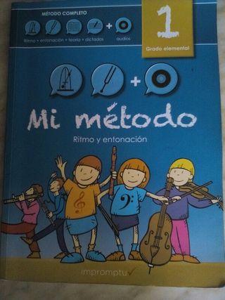 Mi metodo.libro solfeo música grado elemental. CD