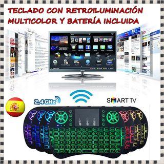 Teclado inalámbrico smart tv 2.4 Ghz Luces Batería