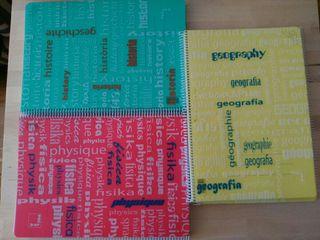 5 cuadernos tapa plástico fuerte