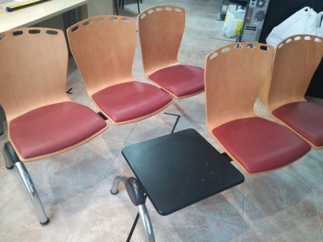 Bancos sillas de recepcion, oficina o sala espera de segunda mano ...