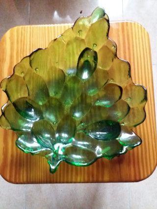 frutero tallado de cristal