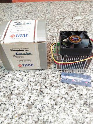 Disipador y ventilador Celeron K6