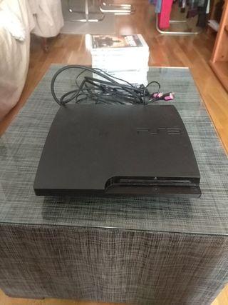 PS3 slim 500g + 9 juegos + wii + 11 juegos (foto).