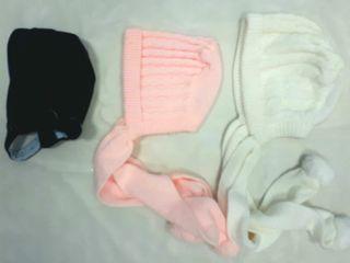 3 capota o gorros 6-12 meses invierno bebe niña