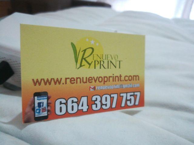 imprenta economica 1000 tarjetas 21 €