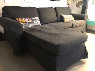 Sofá Ektorp Ikea 3 plazas chaiselong de segunda mano por ...