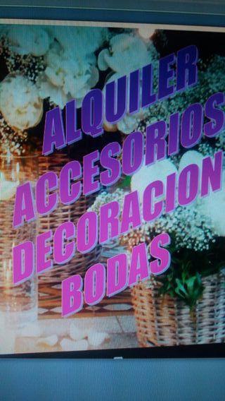 ALQUILER ACCESORIOS DECORACIÓN BODAS