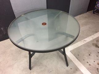 Mesa terraza cristal
