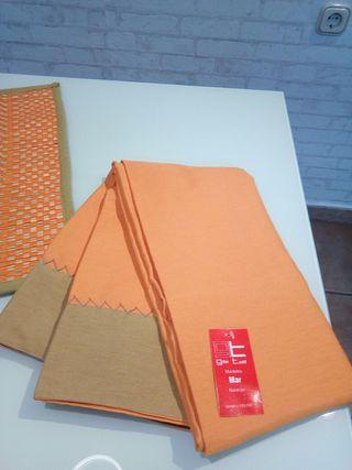 Conjunto de mantel, delantal, manopla etc