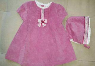 vestido y capota 3-6 meses