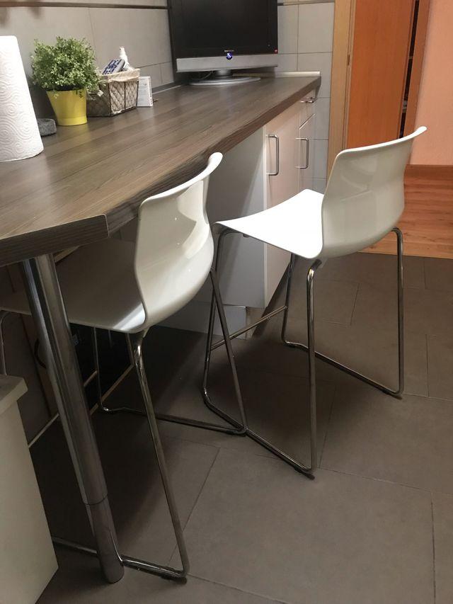 2 sillas altas barra cocina de segunda mano por 80 € en Madrid en ...
