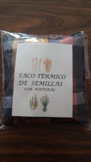Saco térmico de semillas artesanal.