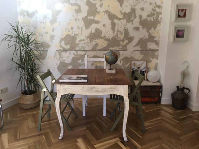 Mesa comedor vintage madera de segunda mano por 150 € en Madrid en ...
