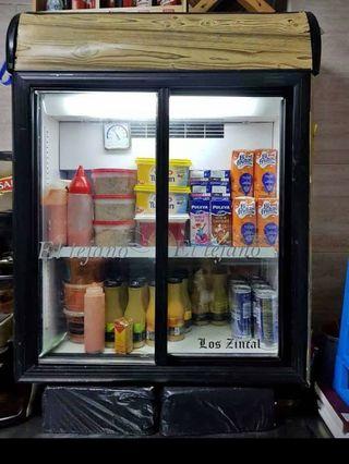 vitrina y congelador