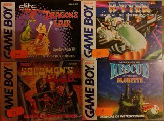 Manuales Juegos GAME BOY