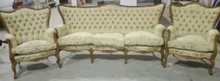 tresillos y sillones estilo isabelino