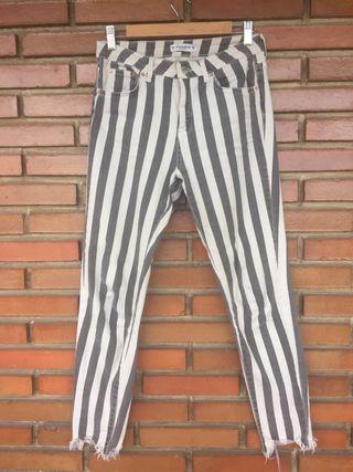 Pantalón rayado 38