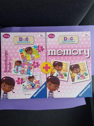 Juegos Memory + 3 Puzles Doctora Juguetes Disney