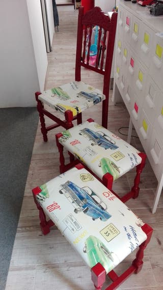 """Conjunto muebles """"Vintage"""""""