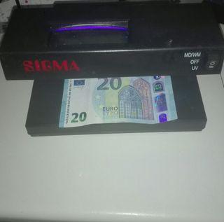 detector de billetes falsos marca sigma