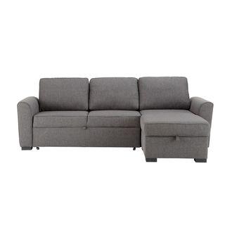 sofa-cama esquinero gris