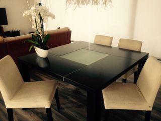 Mesa madera comedor y sillas