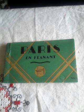 Bloc con 20 postales antiguas de París