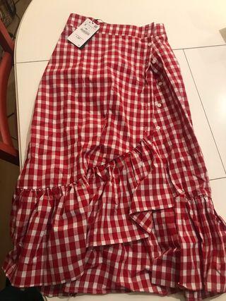 Falda Zara Roja De Segunda Mano En Barcelona En Wallapop