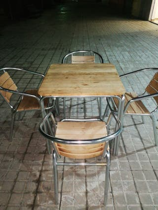 Mesas y sillas de terraza para bar de segunda mano por 75 for Sillas de terraza de segunda mano
