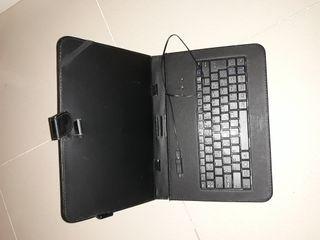 Funda con teclado para tablets de 10 pulgadas