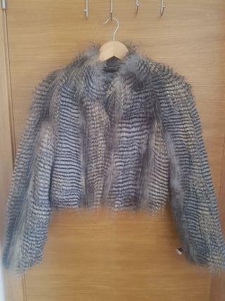Abrigo chaqueta de pelo