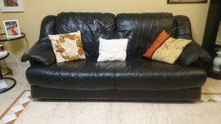Sofa piel 3 plazas