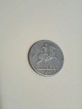 monedas de 5 céntimos de 1945