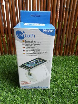 Portarrollos nuevo con soporte para móvil