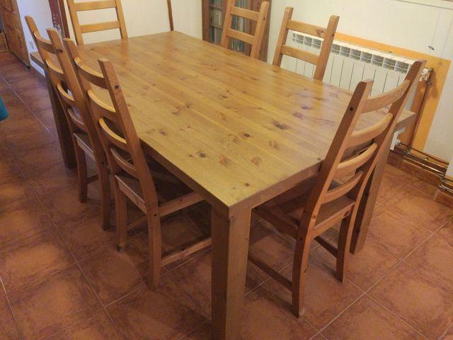 Conjunto mesa y sillas comedor de segunda mano por 385 € en ...