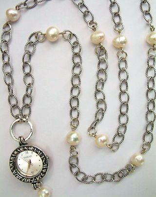 Joyas y Complimentos-Reloj con la perla del rio