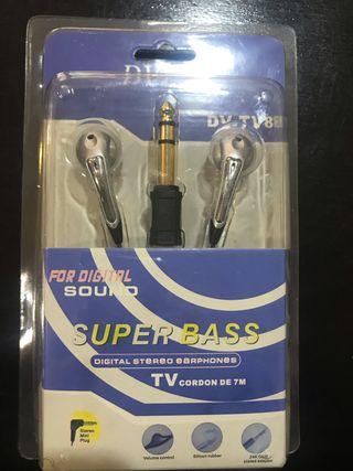 Auriculares para tv nuevos