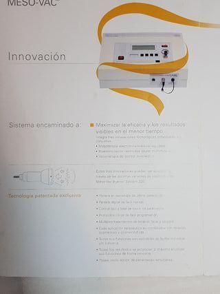 Meso-Vac 320. Electroestimulación. Vacuoterapia
