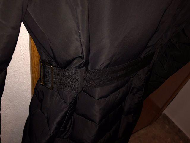 Abrigo parka acolchado plumas negro Mango Suit