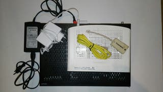 LOTE!!! Descodificador + router + cables