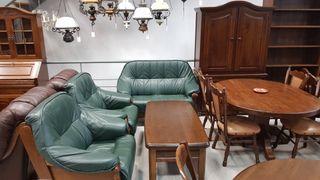 Salon Rustico de Roble Macizo