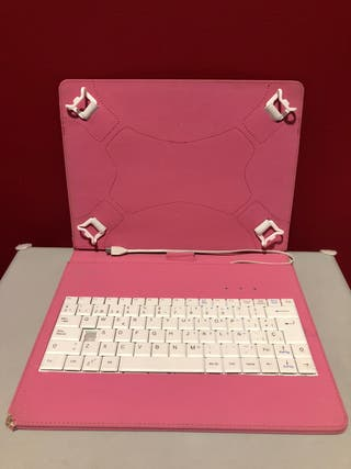 Funda Rosa con teclado