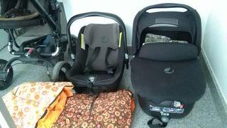 carro silla ,capazo, maxicosi bebe.Regalo motxila